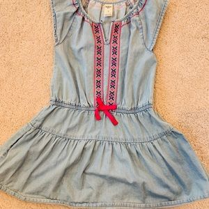 Size 5 girls spring denim dress